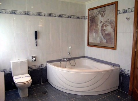The Junior Suite has a bathroom with Jacuzzi at the ...